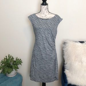 Loft black and white dress size large
